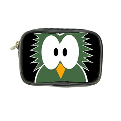 Green Owl Coin Purse by Valentinaart