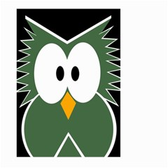 Green Owl Large Garden Flag (two Sides) by Valentinaart