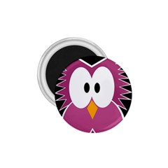 Pink Owl 1 75  Magnets by Valentinaart