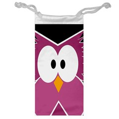 Pink Owl Jewelry Bags by Valentinaart