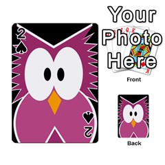 Pink Owl Playing Cards 54 Designs