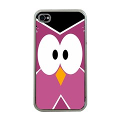 Pink Owl Apple Iphone 4 Case (clear) by Valentinaart