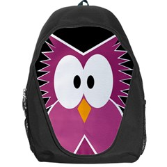 Pink Owl Backpack Bag by Valentinaart
