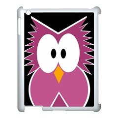 Pink Owl Apple Ipad 3/4 Case (white) by Valentinaart