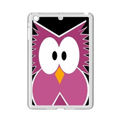 Pink Owl Ipad Mini 2 Enamel Coated Cases by Valentinaart
