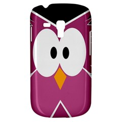 Pink Owl Samsung Galaxy S3 Mini I8190 Hardshell Case by Valentinaart