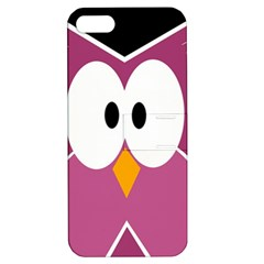 Pink Owl Apple Iphone 5 Hardshell Case With Stand by Valentinaart
