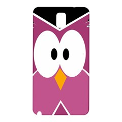 Pink Owl Samsung Galaxy Note 3 N9005 Hardshell Back Case by Valentinaart
