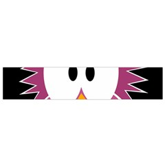 Pink Owl Flano Scarf (small) by Valentinaart