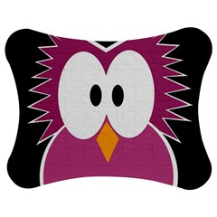 Pink Owl Jigsaw Puzzle Photo Stand (bow)