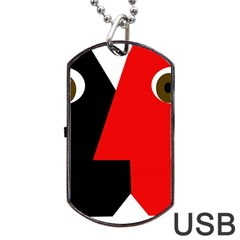 Kiss Dog Tag Usb Flash (one Side) by Valentinaart