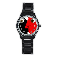 Kiss Stainless Steel Round Watch by Valentinaart