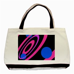 Pink And Blue Twist Basic Tote Bag (two Sides) by Valentinaart