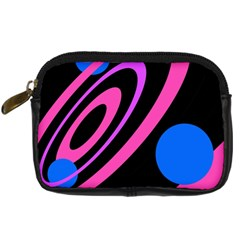 Pink And Blue Twist Digital Camera Cases by Valentinaart