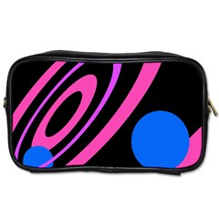 Pink And Blue Twist Toiletries Bags
