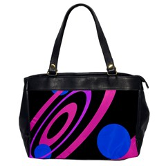 Pink And Blue Twist Office Handbags by Valentinaart