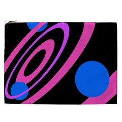 Pink And Blue Twist Cosmetic Bag (xxl)  by Valentinaart