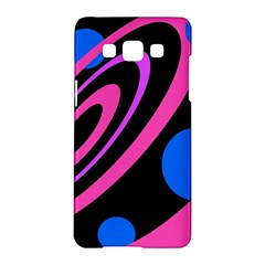 Pink And Blue Twist Samsung Galaxy A5 Hardshell Case  by Valentinaart