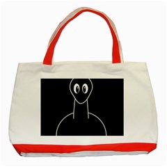 Dinosaur  Classic Tote Bag (red) by Valentinaart