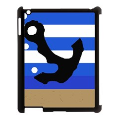 Anchor Apple Ipad 3/4 Case (black) by Valentinaart