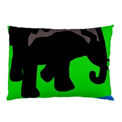 Elephand Pillow Case by Valentinaart
