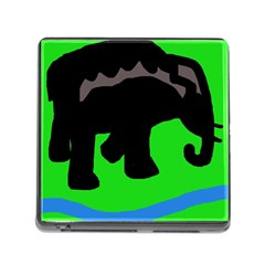 Elephand Memory Card Reader (square) by Valentinaart