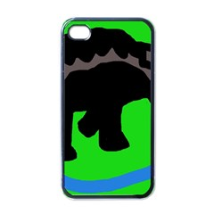 Elephand Apple Iphone 4 Case (black) by Valentinaart