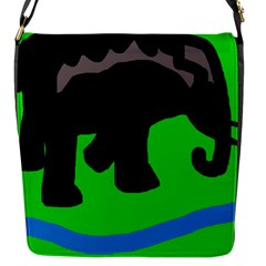 Elephand Flap Messenger Bag (s) by Valentinaart