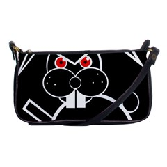 Evil Rabbit Shoulder Clutch Bags by Valentinaart