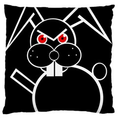 Evil Rabbit Large Cushion Case (one Side) by Valentinaart