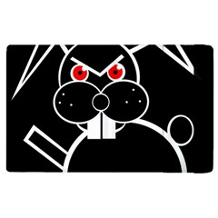Evil Rabbit Apple Ipad 2 Flip Case by Valentinaart