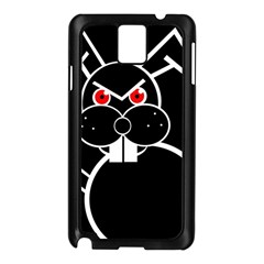 Evil Rabbit Samsung Galaxy Note 3 N9005 Case (black) by Valentinaart