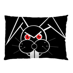 Evil Rabbit Pillow Case by Valentinaart