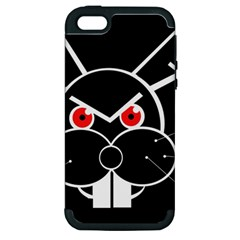 Evil Rabbit Apple Iphone 5 Hardshell Case (pc+silicone) by Valentinaart