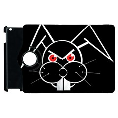Evil Rabbit Apple Ipad 3/4 Flip 360 Case by Valentinaart