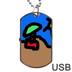 Beach Dog Tag Usb Flash (two Sides)  by Valentinaart