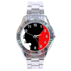 Man Stainless Steel Analogue Watch by Valentinaart