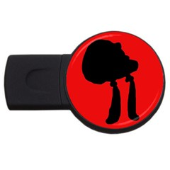 Red And Black Abstraction Usb Flash Drive Round (4 Gb)  by Valentinaart