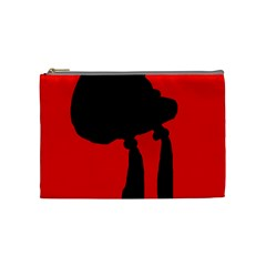 Red And Black Abstraction Cosmetic Bag (medium)  by Valentinaart