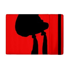 Red And Black Abstraction Apple Ipad Mini Flip Case by Valentinaart