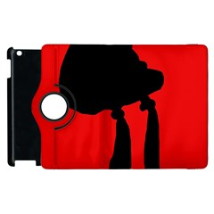 Red And Black Abstraction Apple Ipad 3/4 Flip 360 Case by Valentinaart
