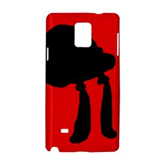Red And Black Abstraction Samsung Galaxy Note 4 Hardshell Case by Valentinaart