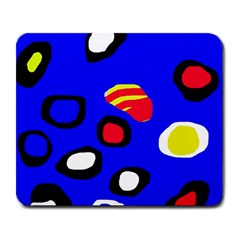 Blue Pattern Abstraction Large Mousepads by Valentinaart