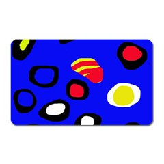 Blue Pattern Abstraction Magnet (rectangular) by Valentinaart