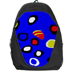 Blue Pattern Abstraction Backpack Bag by Valentinaart