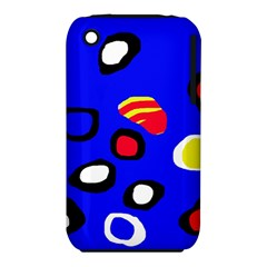 Blue Pattern Abstraction Apple Iphone 3g/3gs Hardshell Case (pc+silicone) by Valentinaart