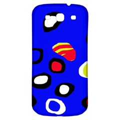 Blue Pattern Abstraction Samsung Galaxy S3 S Iii Classic Hardshell Back Case by Valentinaart