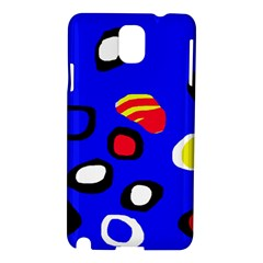 Blue Pattern Abstraction Samsung Galaxy Note 3 N9005 Hardshell Case by Valentinaart