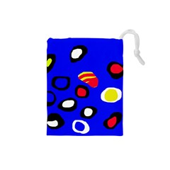Blue Pattern Abstraction Drawstring Pouches (small)