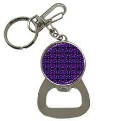 Dots Pattern Purple Bottle Opener Key Chains by BrightVibesDesign